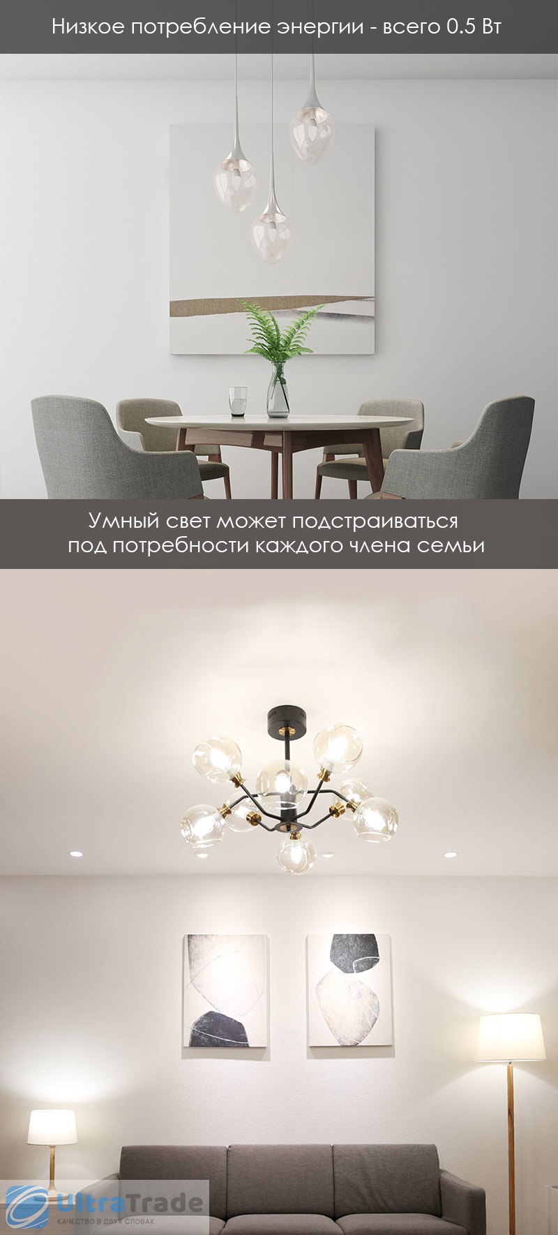 Умная лампочка Xiaomi Yeelight Smart Light Bulb Mesh Edition E27 (YLDP10YL)