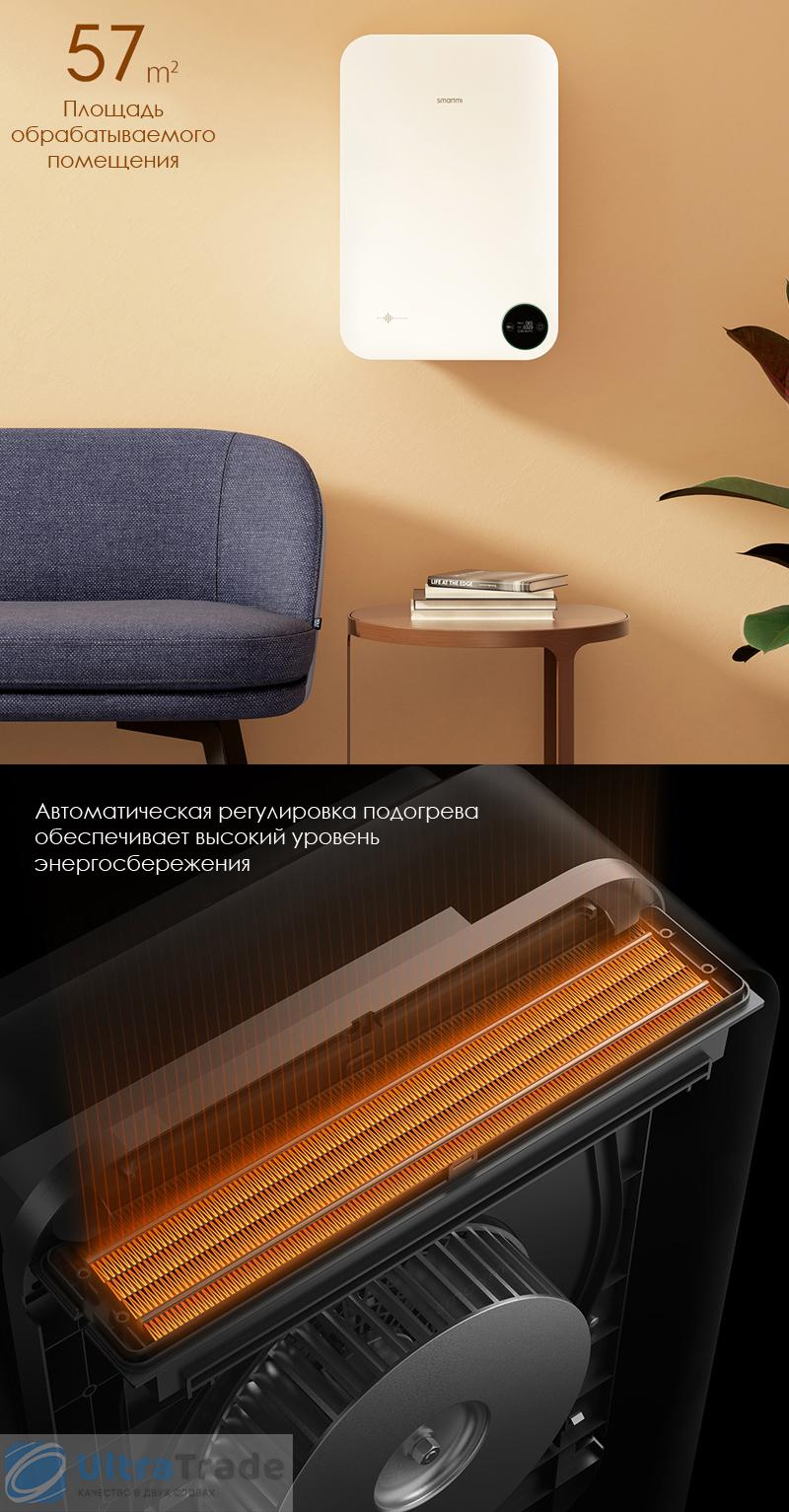 Приточный воздухоочиститель с подогревом Xiaomi SmartMi Fresh Air System Wall Mounted Heat Version White (XFXTDFR02ZM)