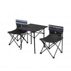 Набор обеденной мебели Складной квадратный стол и 2 стула Xiaomi GOCAMP Folding Table And Chair Set Black (OBS1005)