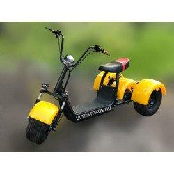 Трицикл Citycoco HARLEY Желтый (Максимальный комплект)