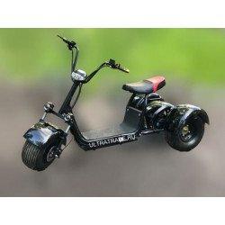 Трицикл Citycoco HARLEY Черный (Максимальный комплект)