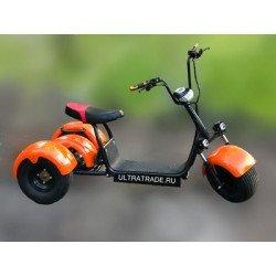 Трицикл Citycoco HARLEY Оранжевый (Максимальный комплект)