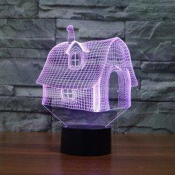 Лампа 3D Избушка (GL-128)