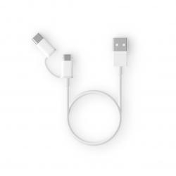 Кабель Xiaomi ZMI AL501 USB - Type-C / Micro USB Combo Cable 100 см White