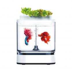 Аквариум Xiaomi Geometry Mini Lazy Fish Tank Pro 1.5L White (C300)