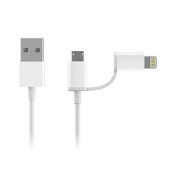 Кабель Xiaomi ZMI AL801 USB - Lighting/Micro USB 100 см White