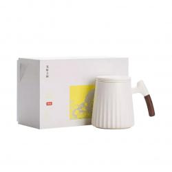 Фарфоровая чашка для чая с керамическим фильтром Xiaomi Zesee Selected Ceramic Tea Cup White