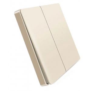 Розетки, выключатели и рамки Беспроводной выключатель двухклавишный Xiaomi Aqara Smart Light Control Gold (WXKG02LM) фото