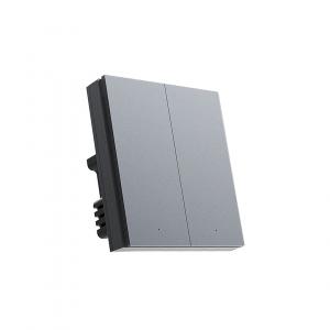 Умный настенный выключатель Aqara Smart Wall Switch H1 Pro (двойной с нулевой линией) Black (QBKG31LM)  - купить со скидкой