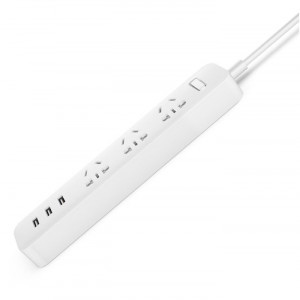 Купить Удлинитель Xiaomi Mi Power Strip 3 розетки и 3 USB порта White
