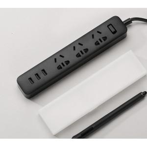 Купить Удлинитель Xiaomi Mi Power Strip 3 розетки и 3 USB порта Black