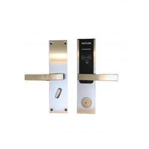 Замки врезные Умный замок для межкомнатной двери Hutlon Hotel Lock HZ-69536 Silver Электронный дверной замок Hutlon Hotel Lock HZ-69536 Silver