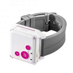 Детский мини GPS трекер/GPS маяк Reachfar RF-V16 White-Pink