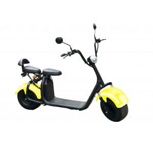 Электроскутер Citycoco Yellow (Максимальный комплект) + съёмный аккумулятор 20Ah мотор 1500W