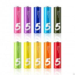Батарейки алкалиновые Xiaomi Mi Rainbow AA разноцветные (10 шт)