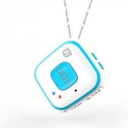 Мини GPS трекер/GPS маяк кулон Reachfar RF-V28 White-Blue