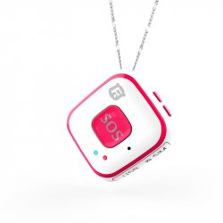 Мини GPS трекер/GPS маяк кулон Reachfar RF-V28 White-Pink