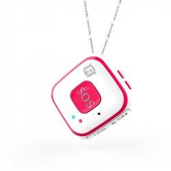 Мини GPS трекер/GPS маяк кулон Reachfar RF-V28 White-Pink