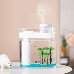 Аквариум Xiaomi Geometry Amphibious Ecological Fish Tank Separable Humidifier (HF-JHYGZHC001)