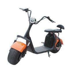 Электроскутер Citycoco Оранжевый (Максимальный комплект) + съёмный аккумулятор 20Ah мотор 1500W