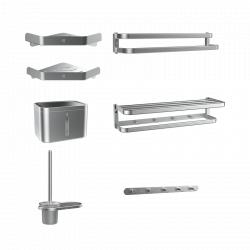 Набор аксессуаров для ванной из алюминиевого сплава Xiaomi Dabai Wenaiyou Aluminum Bathroom Accessories Set Silver Edition (DXGJ001)
