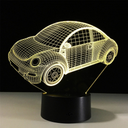 Лампа 3D Volkswagen Жук (GL-111)