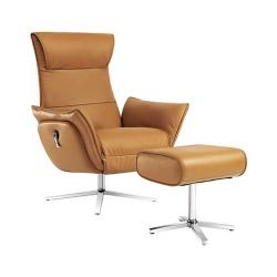 Кресло-реклайнер из натуральной кожи механическое Xiaomi UE Yoyo Real Leather Leisure Chair Boya Camel