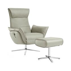 Кресло-реклайнер из натуральной кожи механическое Xiaomi UE Yoyo Real Leather Leisure Chair Light Luxury Gray