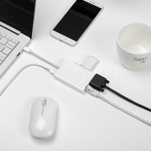 Адаптер-хаб Xiaomi Mi USB-C to VGA and Gigabit Ethernet Multi-Adapter (ZJQ04TM) купить по цене 1 900 руб. в интернет-магазине UltraTrade